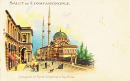 6188 - Turquie / Gréce : CONSTANTINOPLE  :  Mosquée Et Kiosk Impérial à Top - Hané  -  Circulée En 1903   Litho.. - Grecia