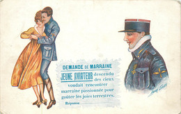 Illustrateur - SAGER XAVIER  Demande De Marraine Jeune Aviateur - Sager, Xavier