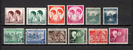 Yugoslavia  1937-38  .-  Y&T  Nº  306/309-310/311-312/313-314/317 - 1931-1941 Königreich Jugoslawien