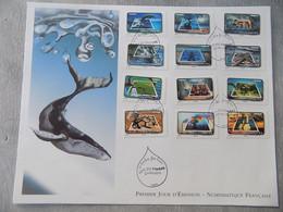 FDC Grand Format France 2010 : Le Timbre Fête L'eau (série Complète) - 2010-....