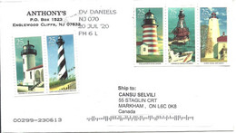 United States: Cover Bearing The Stamps With The Subject Of Lighthouses - Lighthouses