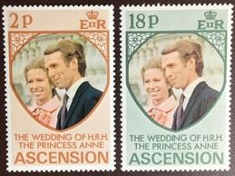 Ascension 1973 Royal Wedding MNH - Ascension