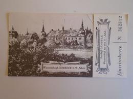 D173686  Entry Ticket  Schloß Lembeck - Eintrittskarte  -  Cancel MARL  1975 - Eintrittskarten