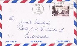 37740. Carta Aerea LONDON (Ontario) 1970 To Checoslovaquia - Brieven En Documenten