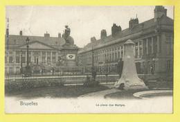 * Brussel - Bruxelles - Brussels * (Nels, Série 1, Nr 305) La Place Des Martyrs, Rare, Old, Cpa, Unique, Monument - Bruxelles-ville