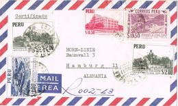 37742. Carta Aerea Certificada LIMA (Peru) A Germany - Peru