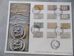 FDC Grand Format France 2012 : Impressions De Reliefs (Série Complète) - 2010-....