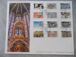 FDC Grand Format France 2013 : Art Gothique En France (Série Complète) - 2010-....