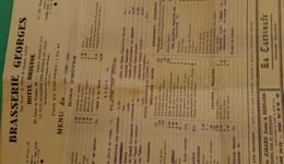Brasserie Georges Lyon - Menu