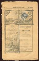 Semaine Catholique  25 Fevrier 1893 Affranchi  Avec Timbre 1c Type Sage - Non Classificati
