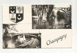 Cp , 94 , CHAMPIGNY , Blason,  Multi Vues,  écrite 1960 , Ed. Raymon - Champigny Sur Marne