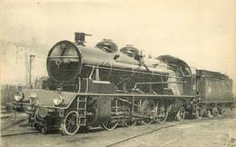 Thème Train Machine 141 C 180 (ex1310) Locomotives Du Sud Est  (ex PLM) CP Ed. H.M.P. N° 503B Locomotive Vapeur - Treni