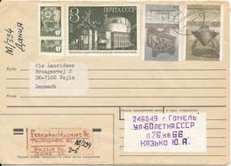 USSR Cover Sent To Denmark 22-4-1988 - Storia Postale