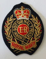 Bel écusson Brodé Royal Navy Honni Soit Qui Mal Y Pense - Patches
