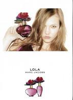 """Marc Jacobs """" Lola """" Carte Thaîlandaise Recto Verso - Duftkarten"""