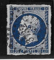 France N°14Ab - Bleu-noir - TB - 1853-1860 Napoleon III