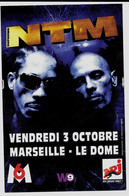 Flyer Du Concert Du Groupe NTM Et Jay-Z à Marseille - Advertising
