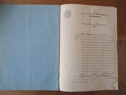 22 JUIN 1853 VENTE PUBLIQUE PAR HENRY DROLENVAUX GENERAL EN RETRITE ACQUISITION PATURE A BACHANT PAR CONSORTS LEMAIRE A - Manuskripte