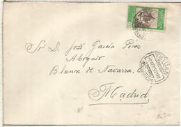 MARRUECOS TETUAN 1950 CC A MADRID - Spanisch-Marokko