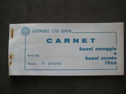 1966 DA VEDERE A VOIR AUTOMOBILE CLUB ITALIANO CARNET BUONI OMAGGIO ANCHE DISTRIBUTORE BENZINA FUEL OIL - Advertising