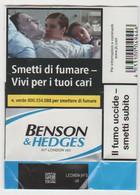 BENSON & HEDGES BLU SOFT ITALY BOX SIGARETTE - Tabaksdozen (leeg)