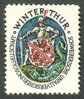 """Schweiz Suisse Winterthur ~1930 """" Schweizer Unfallversicherung """" Vignette Cinderella Reklamemarke - Erinnofilia"""