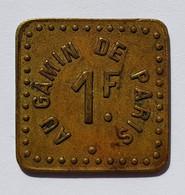 Longwy (54) - Au Gamin De Paris (café - Bal) - Pub Bière De Vézelise - Valeur 1F - Monetary / Of Necessity