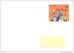 SAN MARINO - 2016 Lettera Franc. Singolo Su Busta Viaggiata, Non Timbrato Ma Annullato Dal Codice A Barre Rosso - 1998 - Briefe U. Dokumente