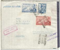 CANARIAS LAS PALMAS CC A BERLIN 1939 MAT AEREO CON CENSURA MILITAR A AGFA FOTOGRAFIA SANCHEZ TODA - 1931-50 Lettres