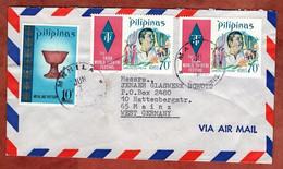 Luftpost, Third-World-Theater U.a., Manila Nach Mainz 1973 (97455) - Philippines