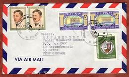 Luftpost, Briefmarken-Woche U.a., Manila Nach Mainz 1977 (97456) - Philippines