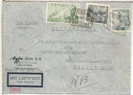 BARCELONA AGFA FOTO CC A BERLIN 1940  CORREO AEREO CERTIFICADO CON CENSURA MILITAR BARCELONA Y ALEMANA - 1931-50 Lettres