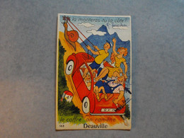 """DEAUVILLE  -  14  -  Carte à SYSTEME  - """"   La Monteras-tu La Côte  -  Dans Le Coffre On Ramène Deauville """"  -  Calvados - Deauville"""