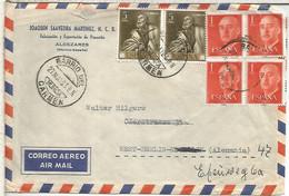 MURCIA CC A ALEMANIA CON MAT BARRIO DEL CARMEN 1963 ARTE RELIGION RIBERA - 1931-Aujourd'hui: II. République - ....Juan Carlos I