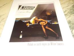 ANCIENNE PUBLICITE SCOTCH WHISKY WILLIAM LAWSON S 1987 - Alcohols