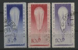 RUSSIE - RUSSIA POSTE AERIENNE N° 38 à 40 COTE 60 € SERIE COMPLETE OBLITEREE POUR L'ASCENSION D'UN BALLON - 1923-1991 UdSSR
