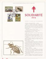 Exemplaire N°001 Feuillet Tirage Limité 500 Exemplaires Frappe Or Fin 23 Carats 1738 à 1741 Faune Flore Insecte Scarabée - Velletjes