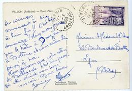 ARDECHE CP 1955 ST SERNIN RECETTE DISTRIBUTION - 1921-1960: Periodo Moderno