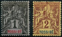 Nossi Bé (1894) N 27 à 28 * (charniere) - Neufs