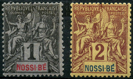 Nossi Bé (1894) N 27 à 28 * (charniere) - Unused Stamps