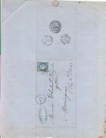 """Oblit. - Losange Gros Chiffres """"4089"""" (?) - Vallon - Sur Facture A.Pascal - Fabricant De Lampes Et Appareils Pour Cafés - 1849-1876: Klassik"""
