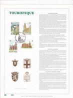 Exemplaire N°001 Feuillet Tirage Limité 500 Exemplaires Frappe Or Fin 23 Carats 2328 à 2331 Tourisme - Feuillets