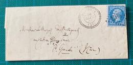 Gard - Montfrin- N°22 (défectueux)- GC 4463 - Cad 22 Du 20 Septembre 1864 - Cote 90€ - 1849-1876: Periodo Clásico