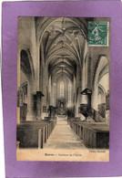 60   BARON Intérieur De L'Eglise Carte Façon Toilée - Frankreich
