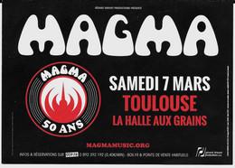 Flyer Du Concert De Magma à Toulouse 2020 - Advertising