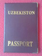 FUNDA CARTERA PASSPORT PASAPORTE DE UZBEKISTON UZBEKISTÁN PASSEPORT ANTIGUA REPÚBLICA LA UNIÓN SOVIÉTICA EX URSS USSR... - Old Paper