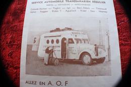 1938/39 CIE Gle TRANSSAHARIENNE DEPLIANT TOURIST SCE AUTOMOBILE/CAMIONS-ALLEZ EN A.O.F. PAR ROUTE DE BIDON 5-ALGER/PARIS - Dépliants Turistici