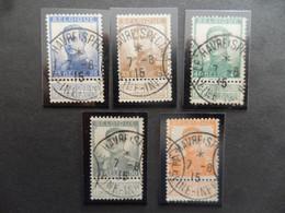 """(Belgique - 1914/18 - Poste Militaire Belge En France) - Lot De 5 Timbres Belges Avec Oblitération """" LE HAVRE SPECIAL """" - 1915-1920 Albert I"""