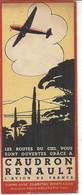 AVION CAUDRON RENAULT . MARQUE PAGE - Advertising