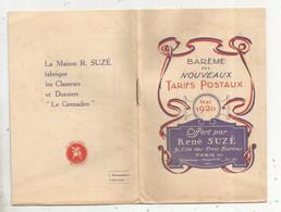 Publicité , René Suzé ,Paris XI E ,barème Des Nouveaux TARIFS POSTAUX , 6 Pages , 4 Scans, Frais Fr 1.55 E - Advertising